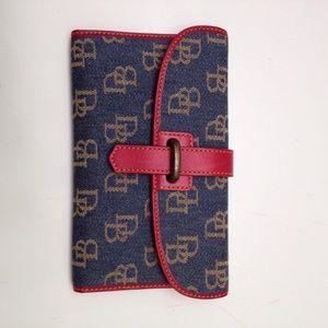 Denim Dooney and bourke Wallet red leather